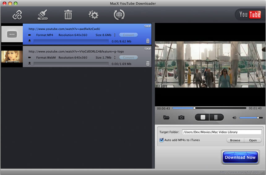 YTD Video Downloader for Mac - Free download and