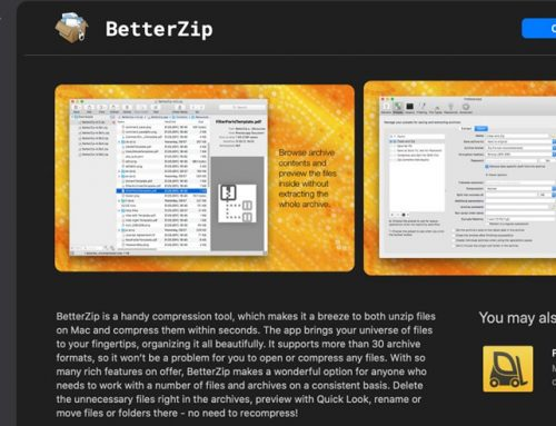 BetterZip 5: A Well-Integrated Archiving Utility for Mac